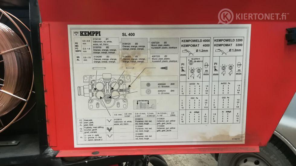 Myydään Kemppi MIG-hitsauskone