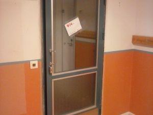 Tuplalasi-ovi metallipuitteella  (410)