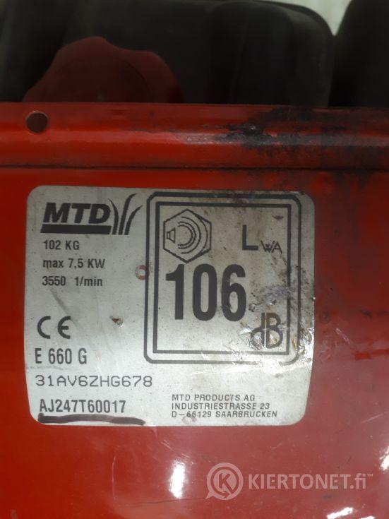 Epäkuntoinen lumilinko MTD E660G