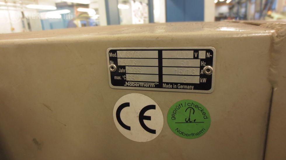 Päästöuuni Nabertherm N60/65, Max 650C