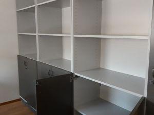 3 kappaletta toimistokaappeja + 1 avohyllykkö