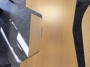 Sähköpöytä, puinen, 180x80cm