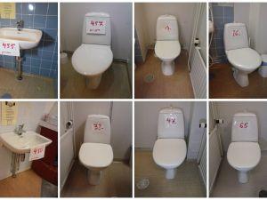 Keraaminen pesuallas 2kpl ja WC-istuin 6kpl  (EU500)