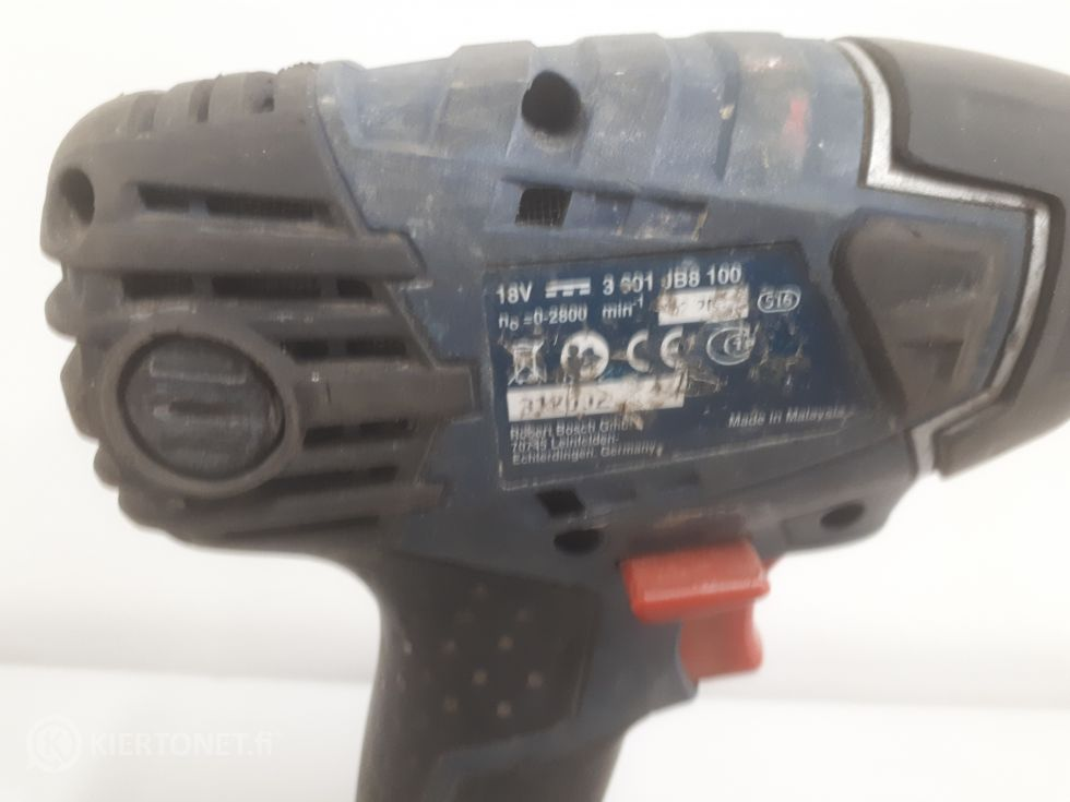 Bosch akkuporakone ja mutterinväännin 18V