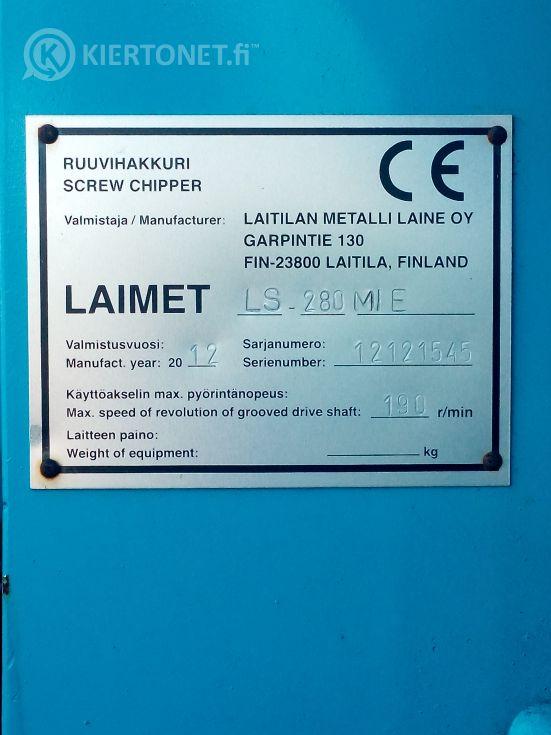 Ruuvihakkuri - LAIMET HP-280 M IE - kapasiteetti: max. 156m3 / h