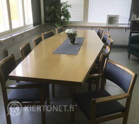 Nro 18 Tammipöytä + 10 tuolia