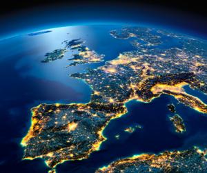 Eurooppa kaupunkien valot