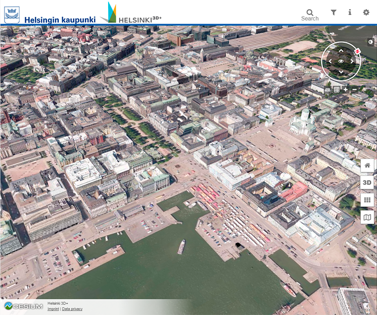 Kuvankaappaus: Helsingin kaupunki, kaupunkitietomalli