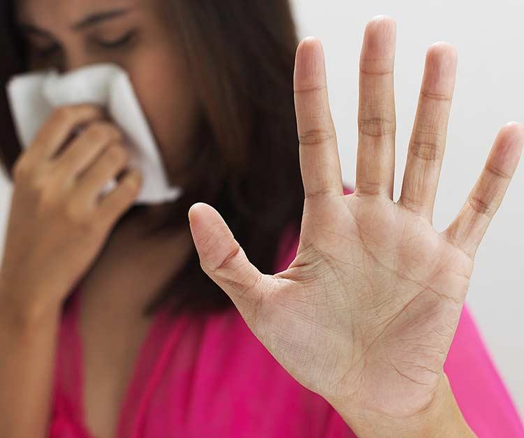 Allerginen ihminen.