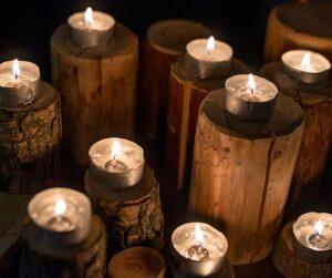 Kynttilät ja paloturvallisuus.