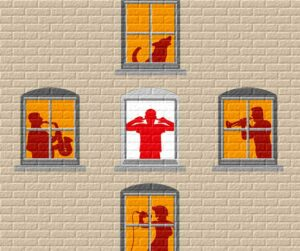 Seinämaalaus häiriökäyttäytymisestä.