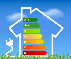 Asunnon energialuokitus.