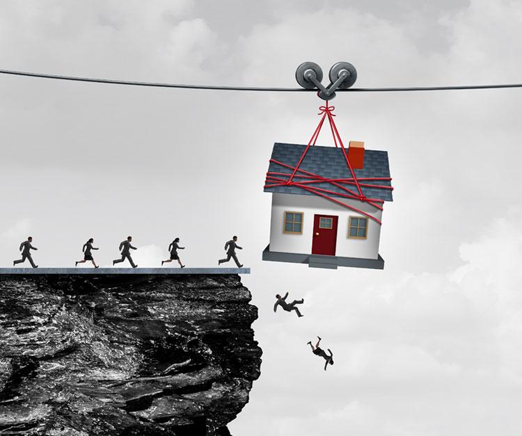 Taloyhtiölainanat ovat yksi syy velkaantumiseen.