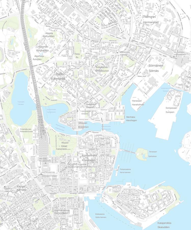 Helsingin jugendoppaan arkkitehdin suosikit.