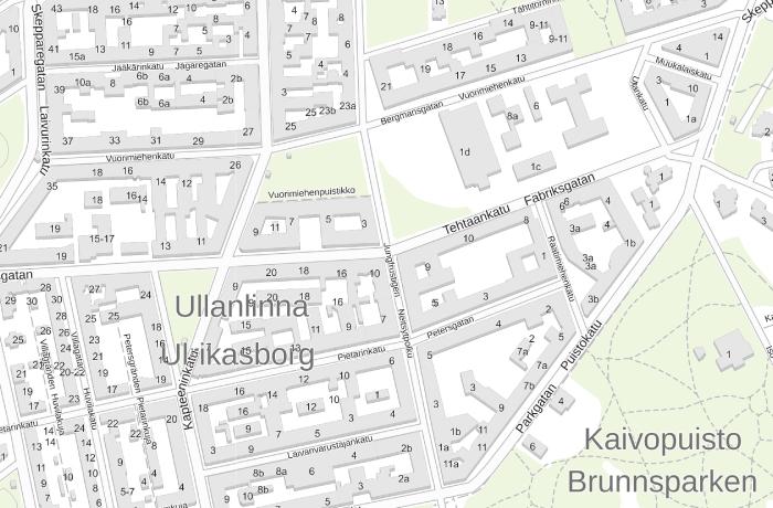 Ullanlinnan kartta