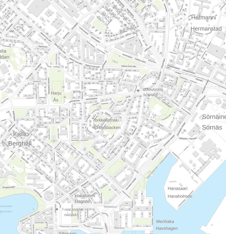 Kallio, Hakaniemi, Alppiharju kartta