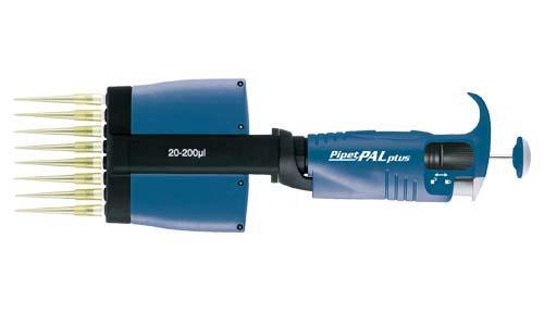 PipetPALplus 8chマルチチャンネルピペット 20-200μl