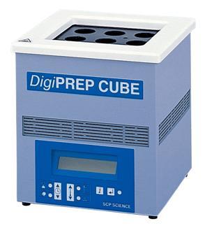 温調機能一体型小型ヒートブロック DigiPREP CUBE for 50 mL DigiTUBEs