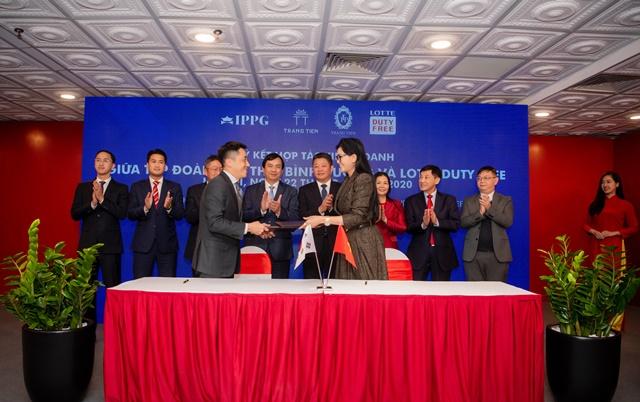 """IPPG """"bắt tay"""" Lotte mở cửa hàng miễn thuế ở Tràng Tiền Plaza, kinhtethoidai, kinh te thoi dai, kinh tế thời đại, kinhtethoidai.vn"""