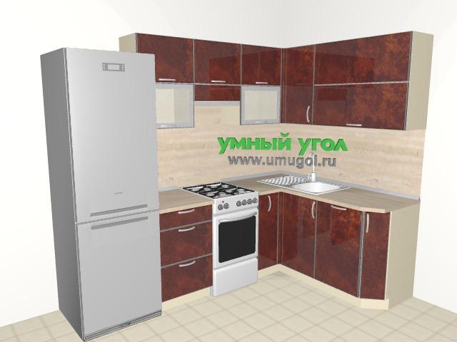 Хрущевка: глянцевая кухня для однушки