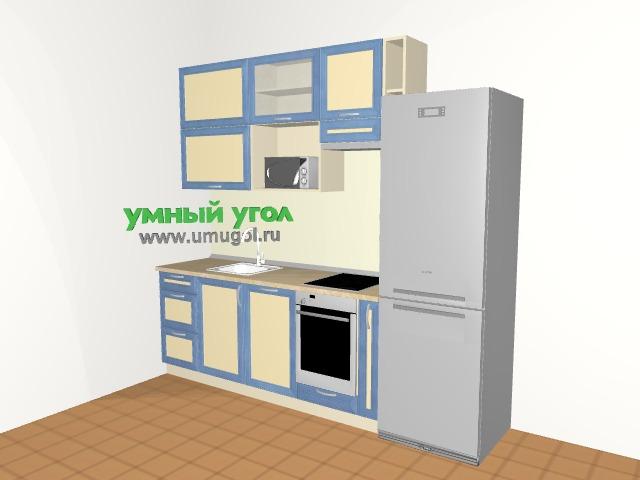 Маленькая прямая кухня для семейной пары