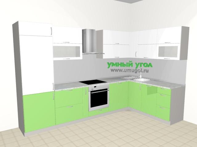 Встроить все: угловая кухня со встроенным холодильником, духовкой, посудомоечной и стиральной машиной