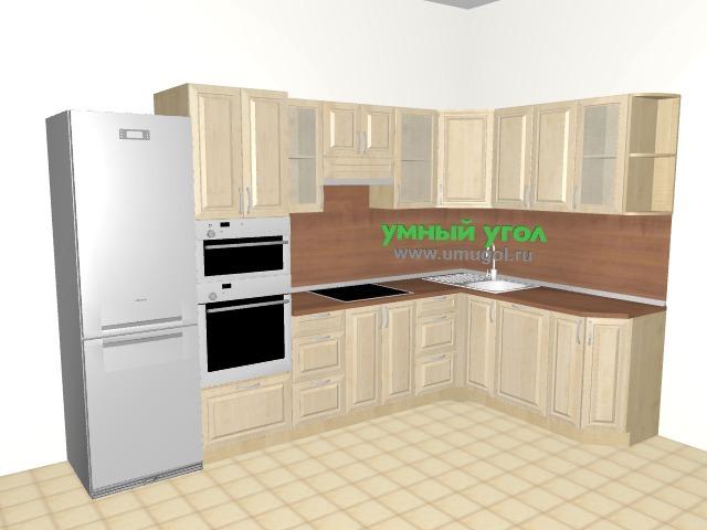 Кухонный гарнитур с пеналом в двухкомнатную квартиру