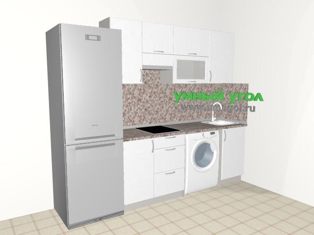 Кухонный гарнитур со стиральной машиной в квартиру-студию