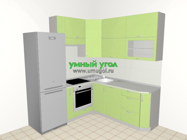 Кухонный гарнитур в двухкомнатную квартиру для семьи с ребёнком