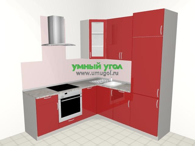 Угловая кухня с открытой стеной