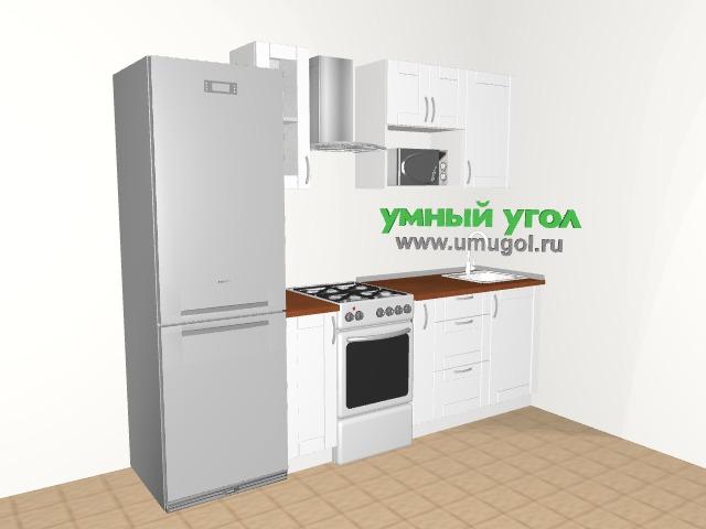 Хрущевка: белая кухня для однушки