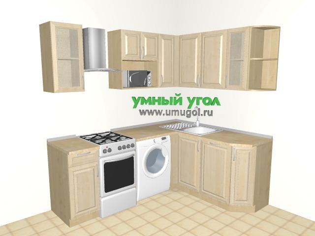 Хрущевка: уютная бежевая кухня для трешки