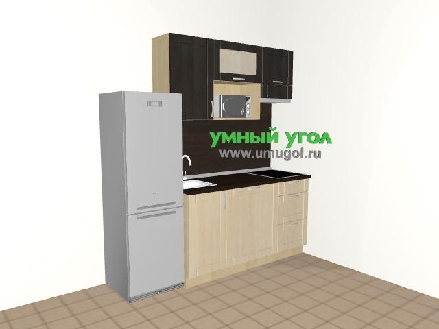 Кухня со встроенной стиралкой в квартиру-студию