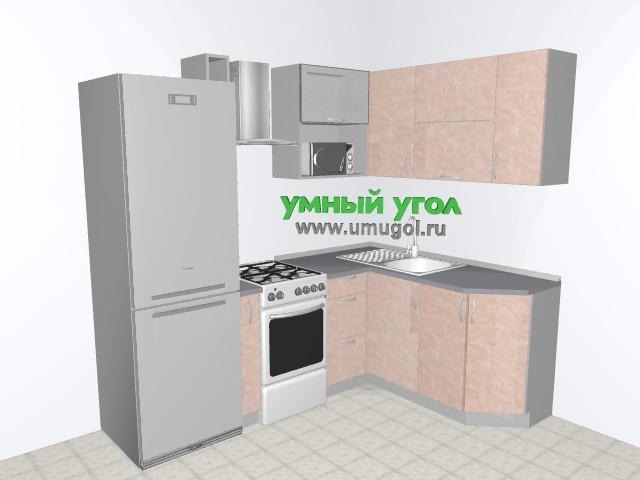 Хрущевка: кухня с фасадами пластик для двушки