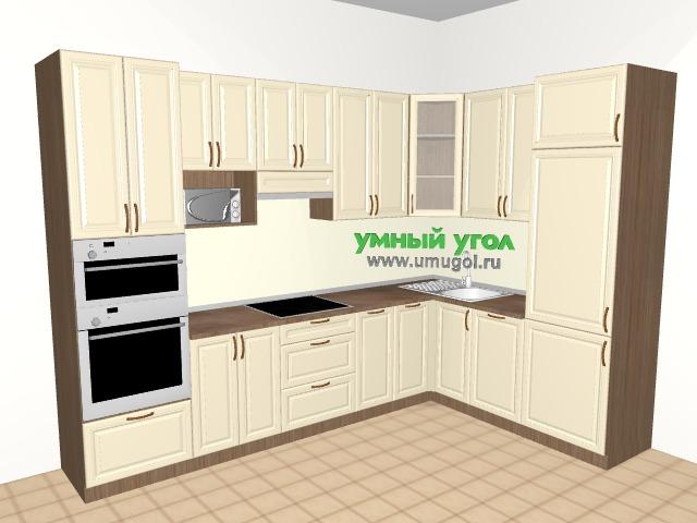 Встроить все II: угловая кухня со встроенным холодильником, духовкой, СВЧ, посудомоечной и стиральной машиной