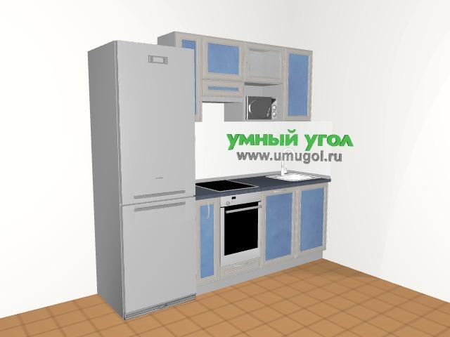 Хрущевка: кухня с рамочными фасадами для двушки