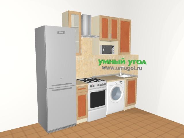 Маленькая кухня со стиральной машиной