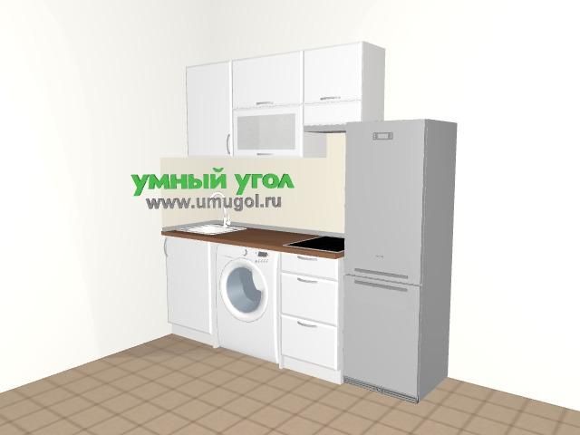 Маленькая кухня со стиралкой в квартиру-студию