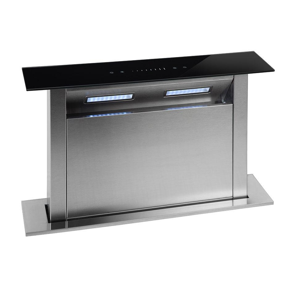 Montpellier DDCH90 MONTPELLIER STAINLESS STEEL 90CM DOWN DRAUGHT COOKER HOOD image