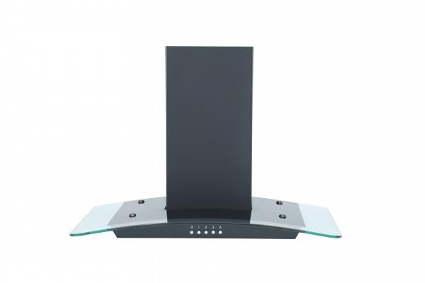 MONTPELLIER MHG600BK BLACK 60CM A RATED CURVED GLASS CHIMNEY HOOD image