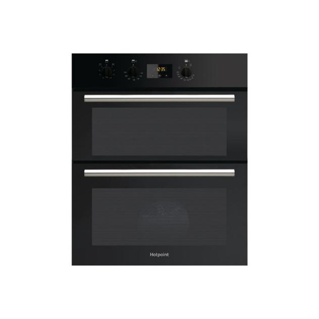 HOTPOINT DU2540BL BLACK BUILT UNDER FITTED DOUBLE FAN OVEN  image
