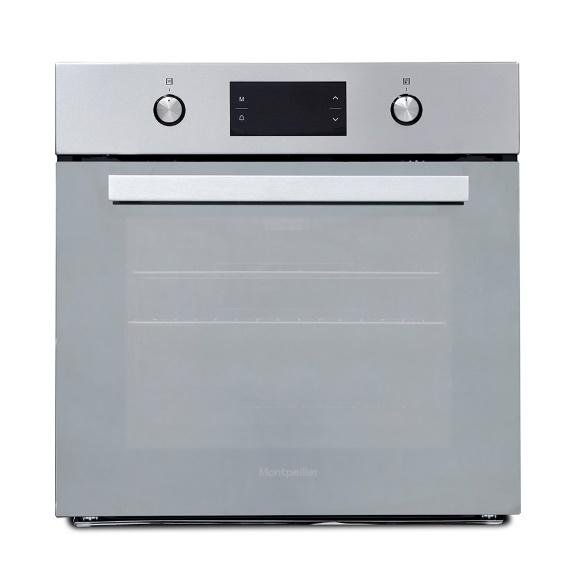 MONTPELLIER SFOM69MXSTAINLESS STEEL MULTIFUNCTION FITTED OVEN WITH MIRROR GLASS DOOR image