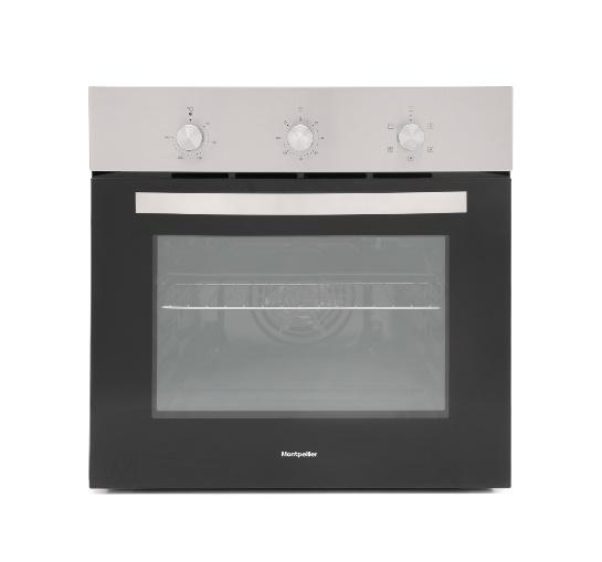 MONTPELLIER SBFO59XSTAINLESS STEEL SINGLE ELECTRIC FAN FITTED OVEN image