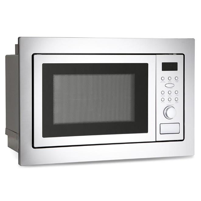 MONTPELLIER MWBI90025STAINLESS STEEL 25L BUILT IN FITTED MICROWAVE WITH GRILL image