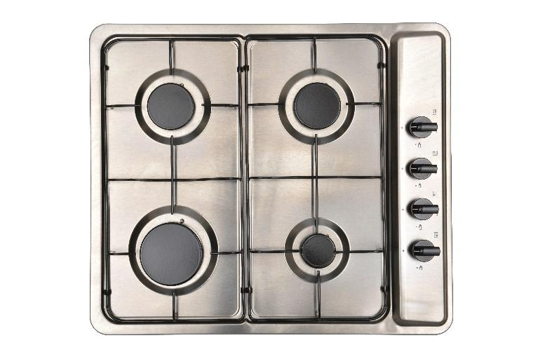 MONTPELLIER MGB60X STAINLESS STEEL 60CM SIDE CONTROL GAS FITTED HOB image
