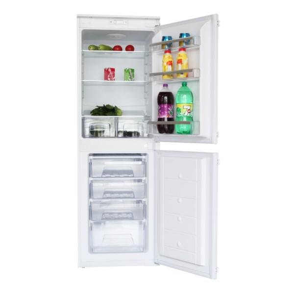 MONTPELLIER MIFF50250/50 STATIC INTEGRATED FRIDGE FREEZER WITH TWIN STAT image