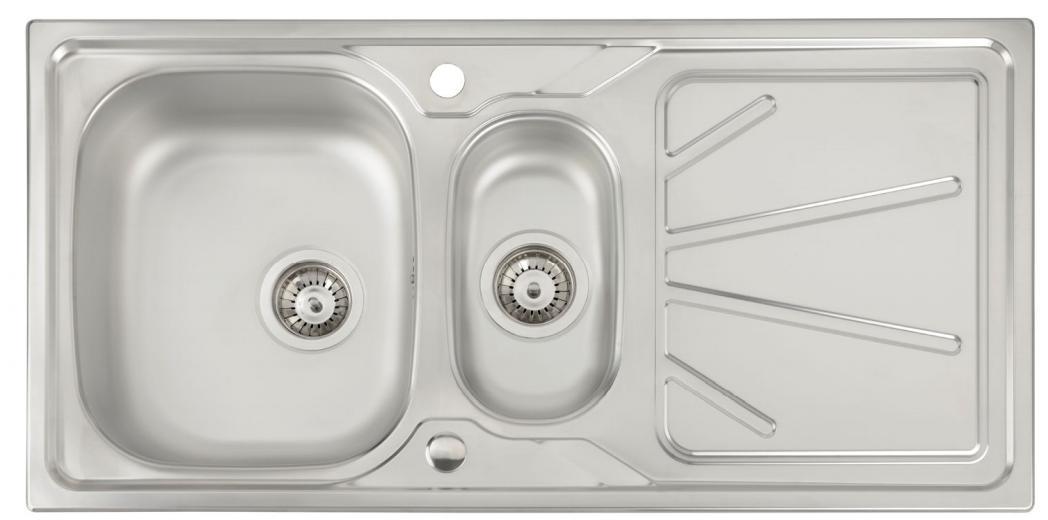Sinks & Taps TRYDENT 1.5 BOWL KITCHEN SINK image
