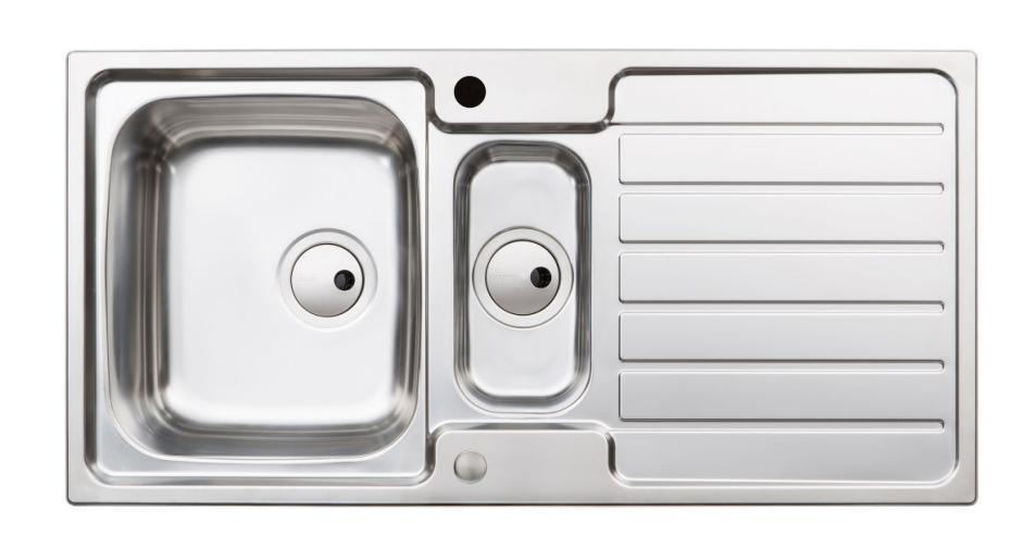 Sinks & Taps NERON 1.5 BOWL KITCHEN SINK image