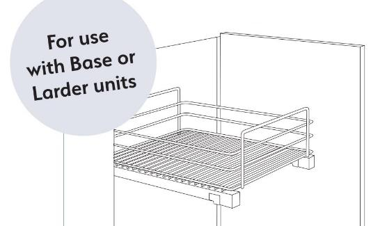 Wirework CHROME PULLOUT BASKET 400MM image