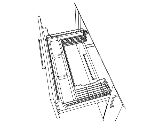 Wirework DYNAMIC UNDERSINK PULLOUT 1000MM image